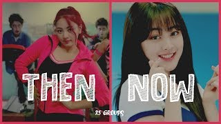 debut song vs latest song 25 girl groups