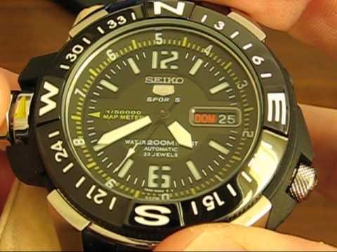 Seiko 5 Map Meter 7S36 - 02K0