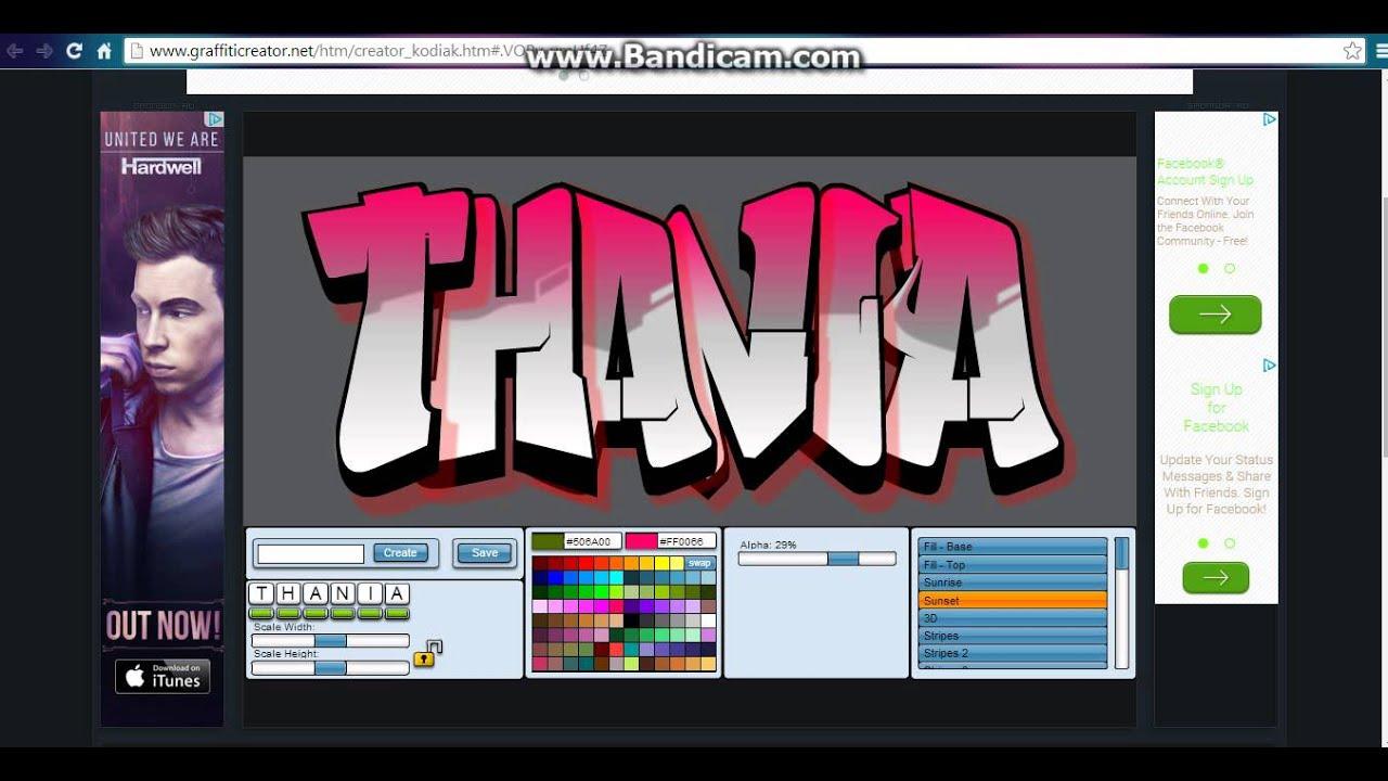 Graffiti creator in computer