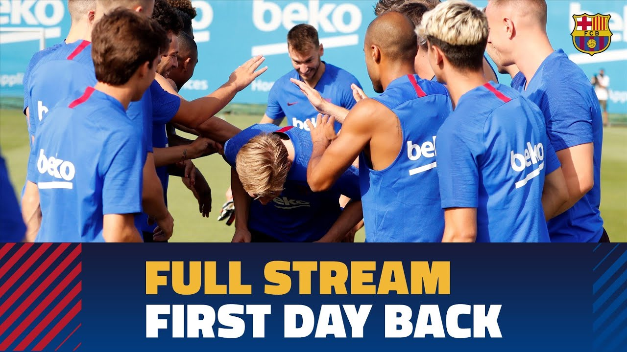 Barça's first preseason training session for 2019/20