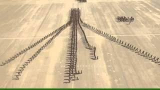 عرض عسكري سعودي  رائع يرسم اسم سلمان العزم والحزم