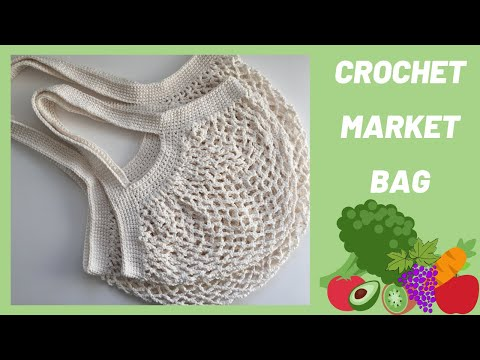 Crochet Market Bag! Reusable, Washable, Fun!