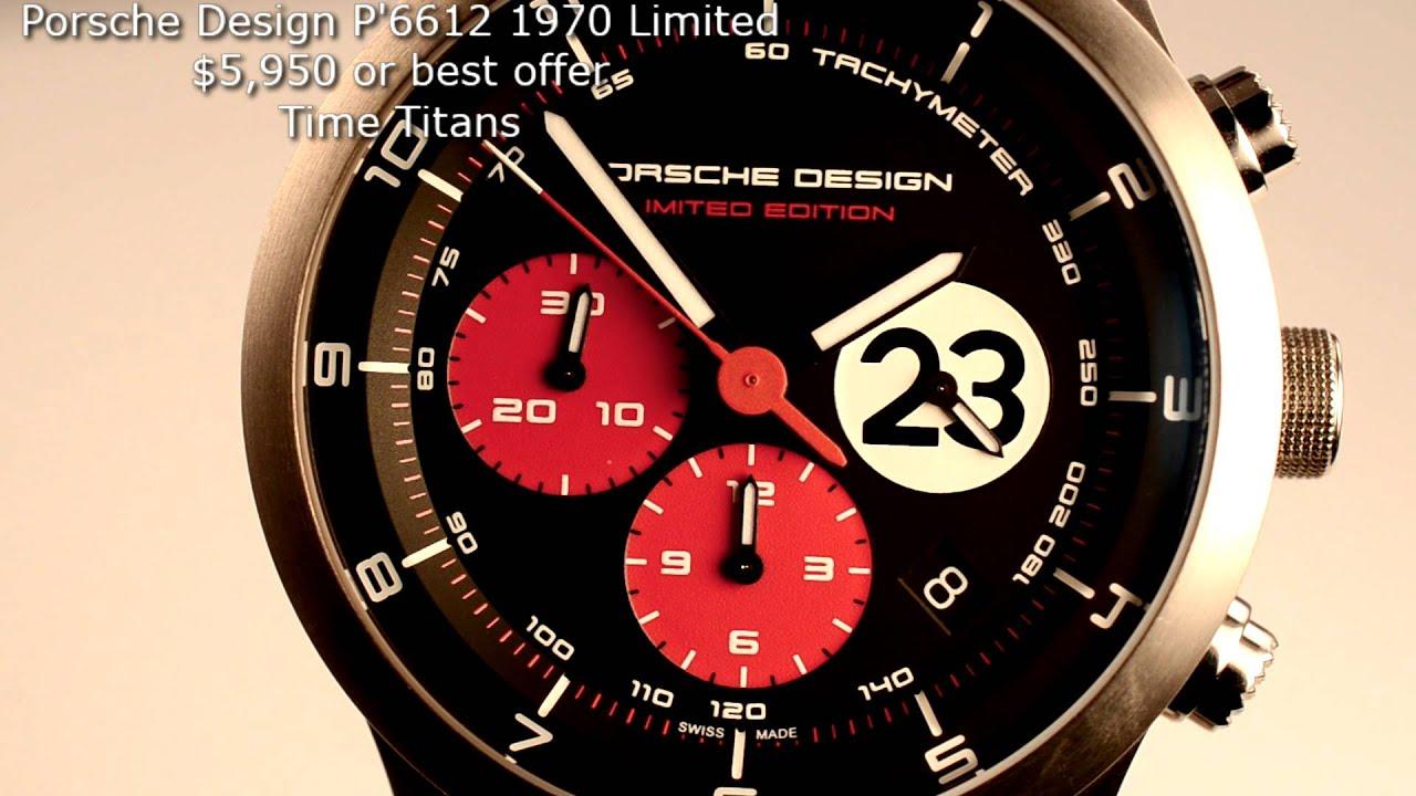 Porsche Design Dashboard P 6612 1970 Limited 917 Bnib 42mm