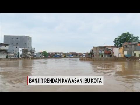 Penampakan Banjir yang Merendam Kawasan Ibukota, Jakarta