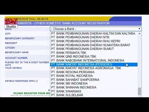 Cara Transfer Dari Bank BCA ke Bank BRI via klik BCA - YouTube
