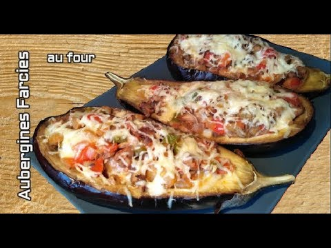 """🍆""""recette-d'aubergines-farcies-aux-légumes,-gratinée-à-l'emmental,-au-four"""""""