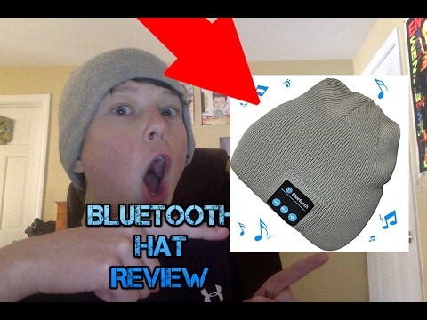 1f467763fd1 Hat With Built in Bluetooth headphones Review - YouTube