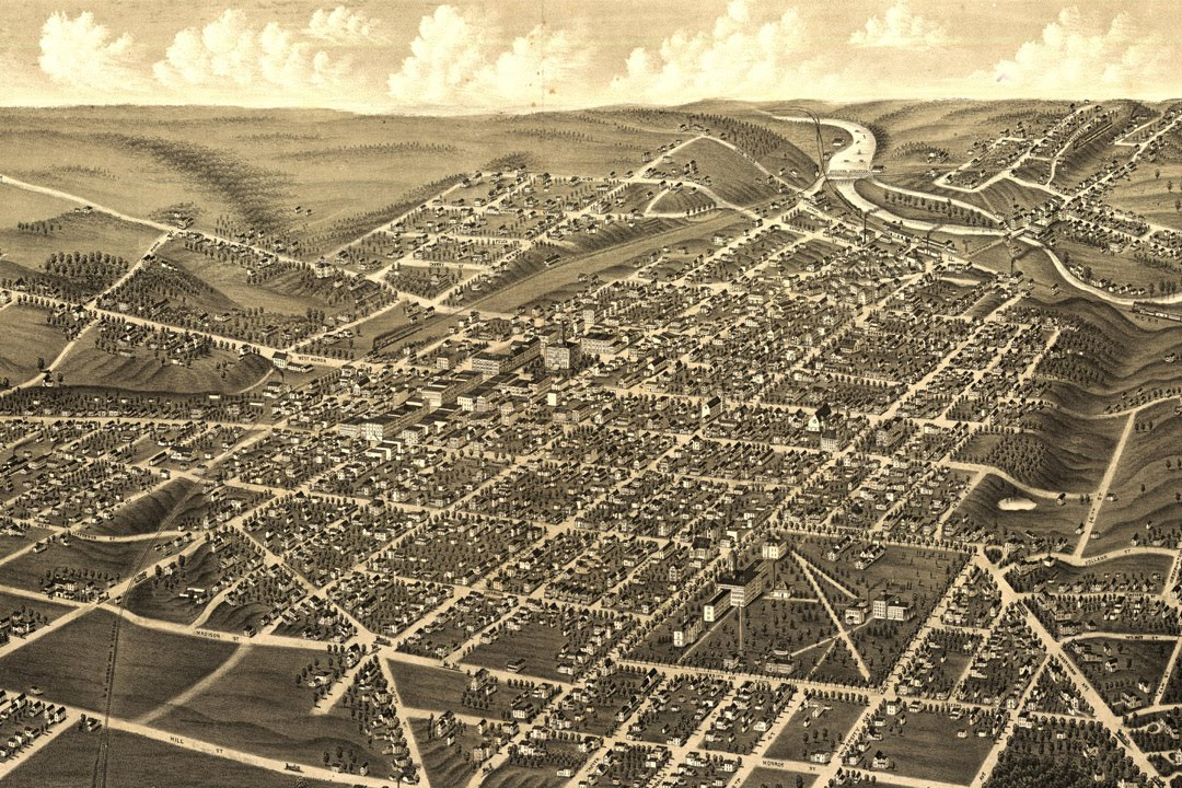 Ann Arbor Michigan History and Map 1880 Interactive Journey