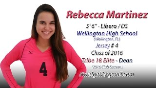 Rebecca Martinez - 2015 High School Volleyball Highlights