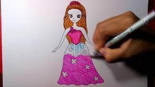 วาดรูปเจ้าหญิงอเล็กซ่า บาร์บี้ กับประตูพิศวง พร้อมระบายสี