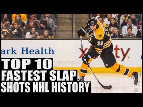 Top 10 Fastest Slap Shots In NHL History