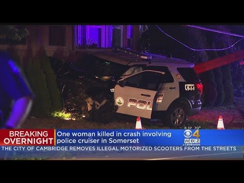 Woman dead after head-on collision with police cruiser in
