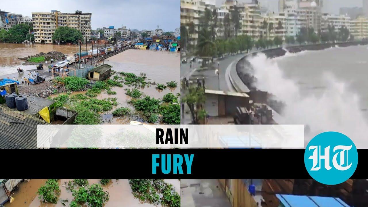 Download Mumbai high tide amid waterlogging; rivers overflow banks, buildings flooded in Maharashtra