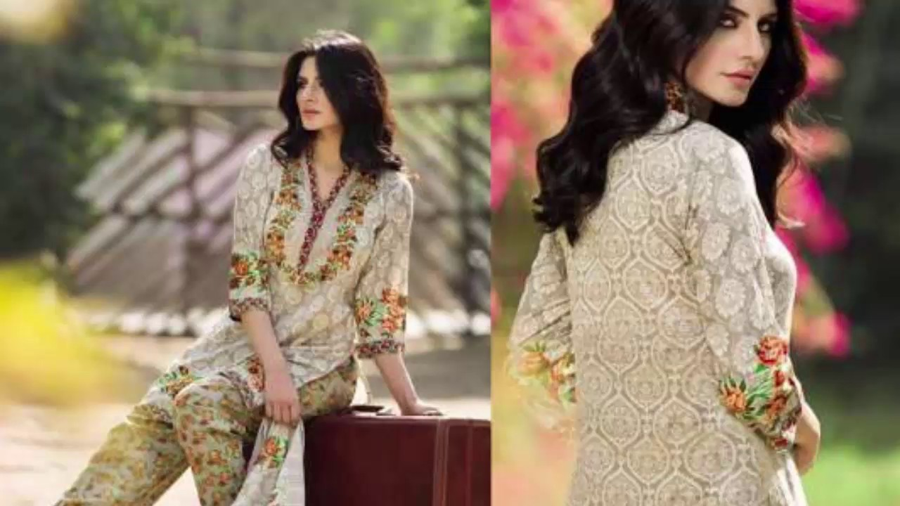 75474f648f Shariq Textiles Libas Summer Lawn Collection 2017 - YouTube