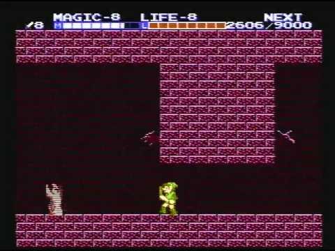 Zelda II: The Adventure of Link (Three-Eye Rock Palace, No Damage)