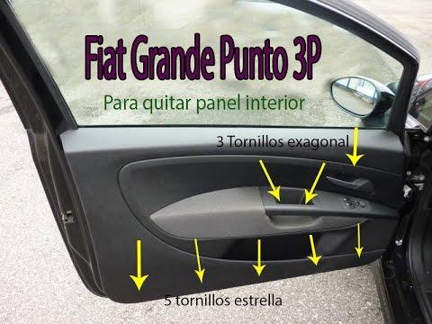 Sacar panel interior fiat grande punto puerta izquieda for Cristales para puertas de interior