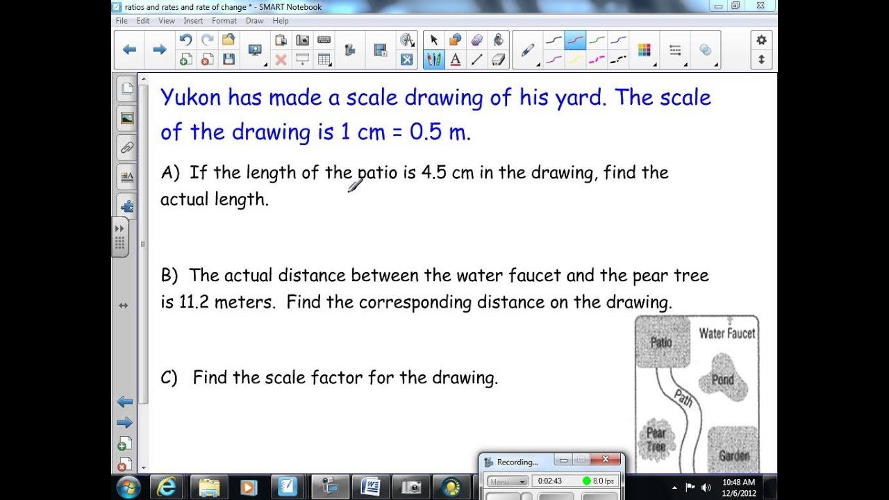 Scale Factor And Scale Drawings 8th Grade Math Youtube