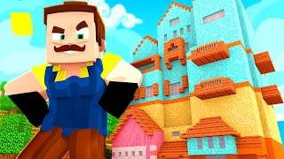 ATTACK OF THE GIANT NEIGHBOR! | Hello Neighbor Minecraft Roleplay