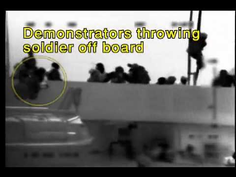Israeli soldiers being lynched as soon as they board the vessels