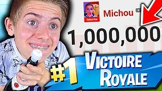 JE PASSE LE MILLION D'ABONNÉS GRÂCE À CE TOP 1 SUR FORTNITE BATTLE ROYALE !!!