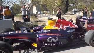 Essaie moteur Formule 1 Red Bull