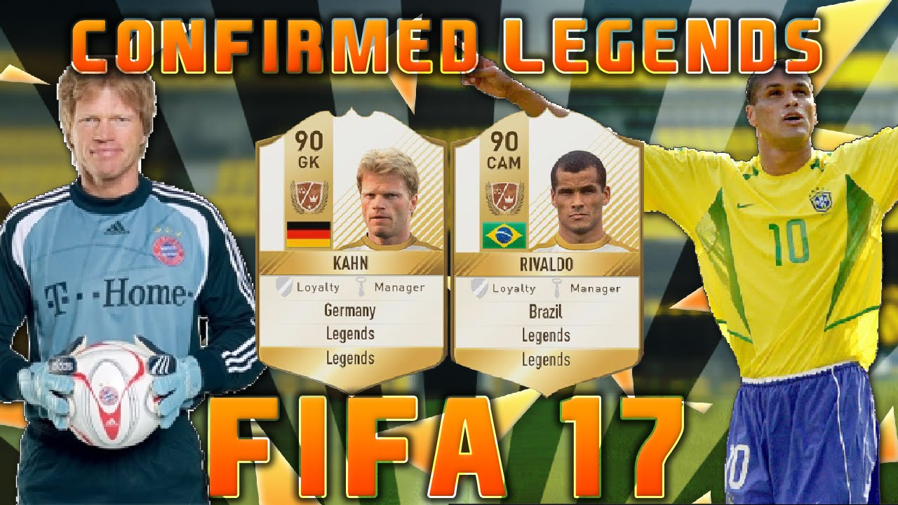 FIFA 17 CONFIRMED LEGENDS! (FIFA 17 ULTIMATE TEAM LEGENDS ...