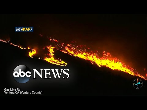 Aerial view shows devastation of Southern California wildfires