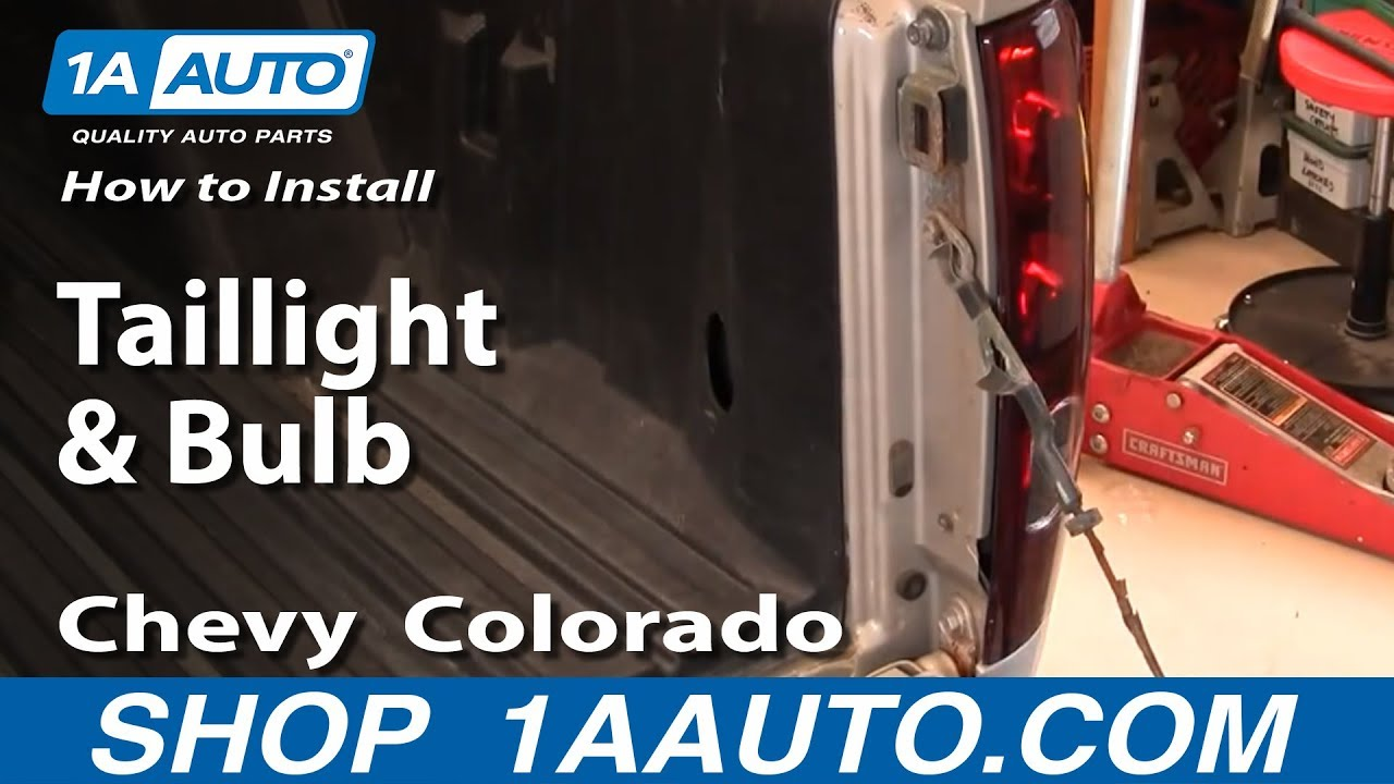 how to install replace taillight and bulb chevy colorado