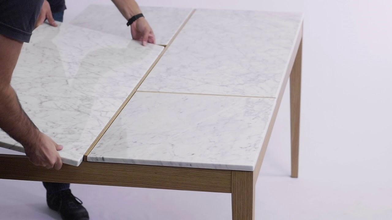 table marbre et bois board pop up home