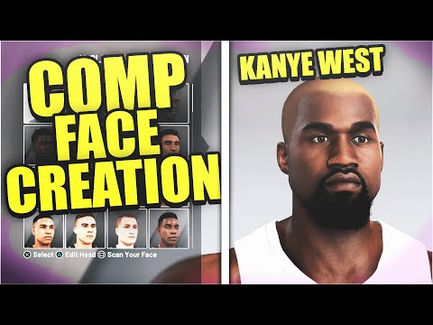 *NEW* MOST COMP FACE CREATION! KANYE WEST FACE CREATION 2K21! HOW TO MAKE KANYE WEST IN NBA2K21!!