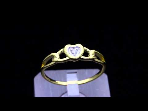 HEART PROMISE RING YELLOW GOLD