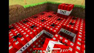 Minecraft: TNT explosion 1000 blocks!