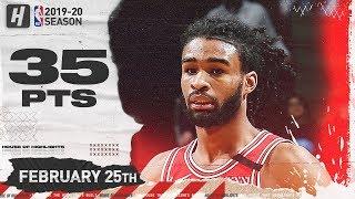 Coby White 35 Pts Full Highlights   Thunder vs Bulls   February 25, 2020