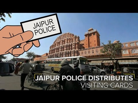 Jaipur Police Provide Cards with Direct Emergency Helpline Info for Tourists
