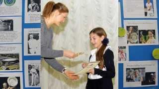 Динара Сафина в школе Газпрома