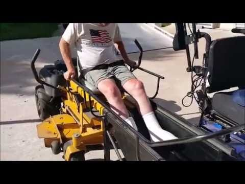 Mower Attachment for disabled people in wheelchairs
