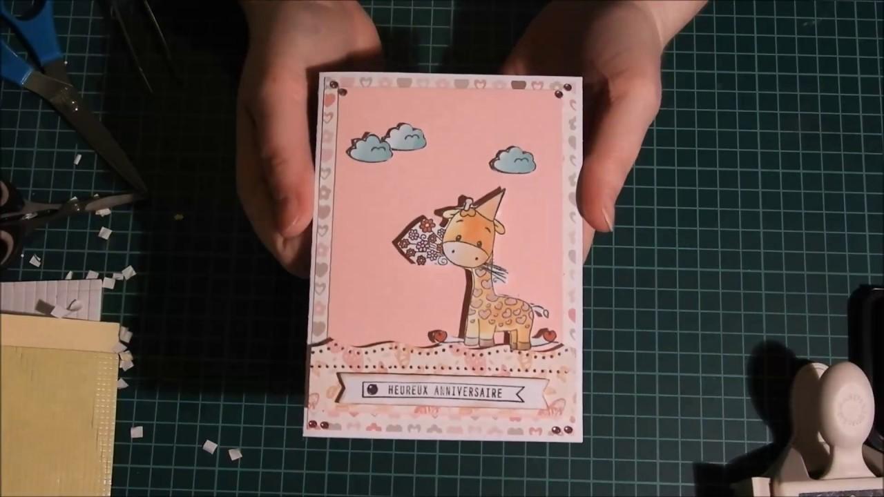 Tuto Carterie Carte Anniversaire Pour Une Petite Fille De 6ans Youtube