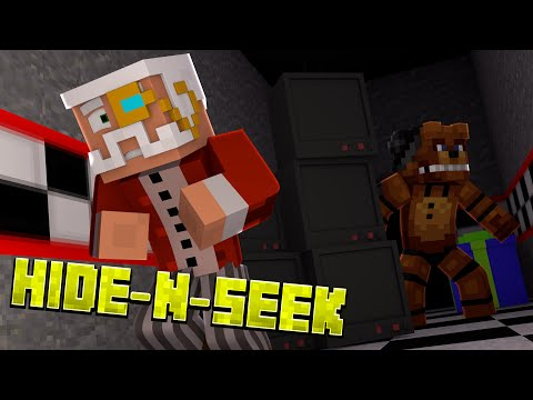 Minecraft FNAF HIDE N SEEK w/ HARRINGTON! #17 (Five Nights at Freddy's Minigame)