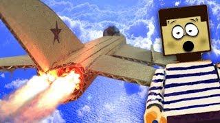 Самый быстрый самолет для НУБА из МАЙНКРАФТ ! Как сделать реактивный истребитель из картона !