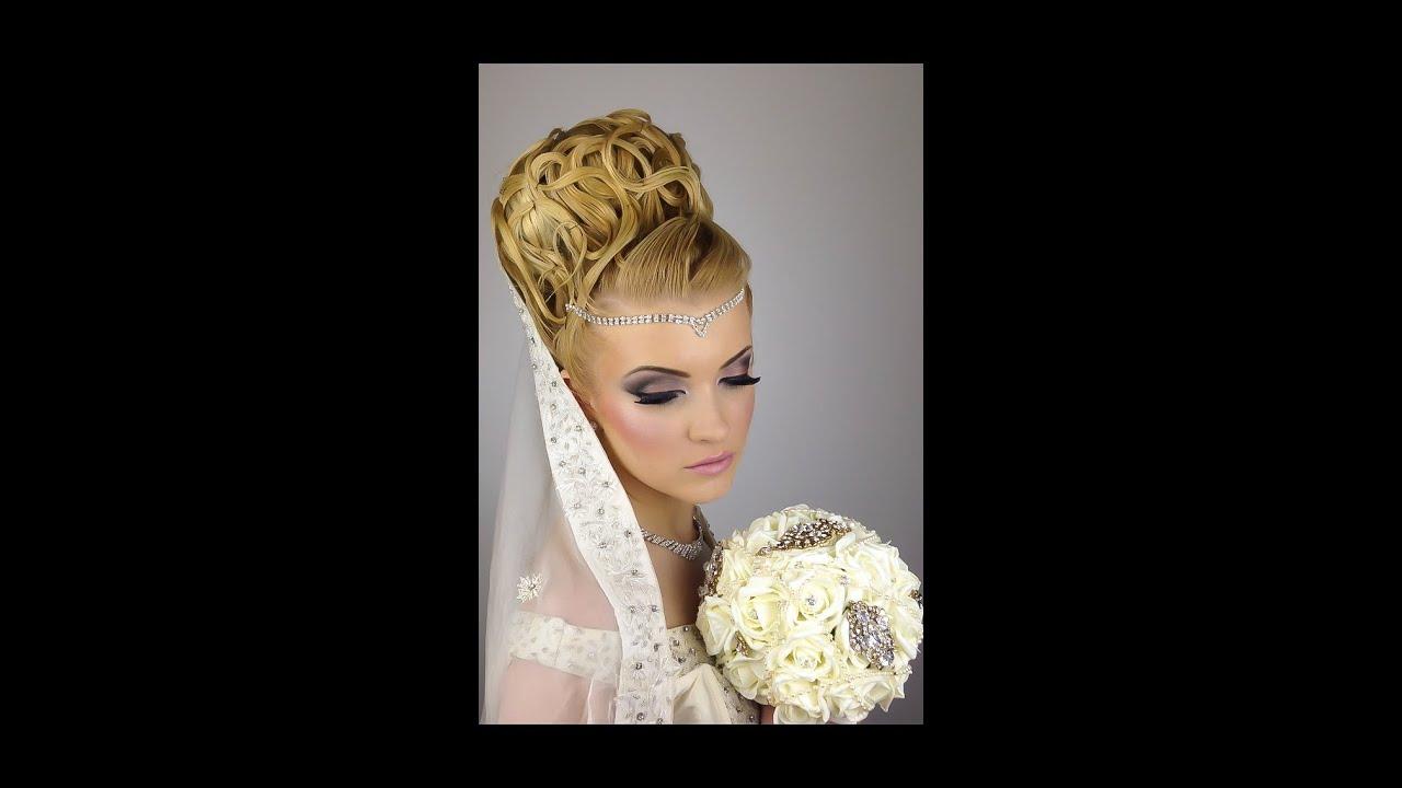 Bridal wedding hair and makeup tutorial - YouTube