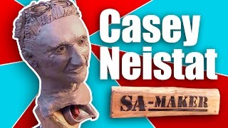 Sculpting Casey Neistat out of a Skateboard truck!