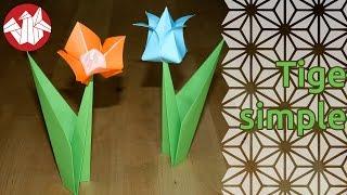 Origami - Tige Simple Pour Fleur