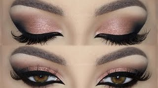 rose glam holiday cat smokey eyes make up tutorial   melissa samways