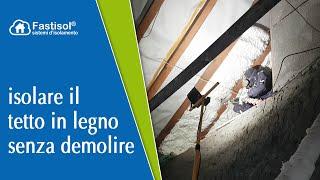 Isolamento di un tetto in legno senza demolizioni