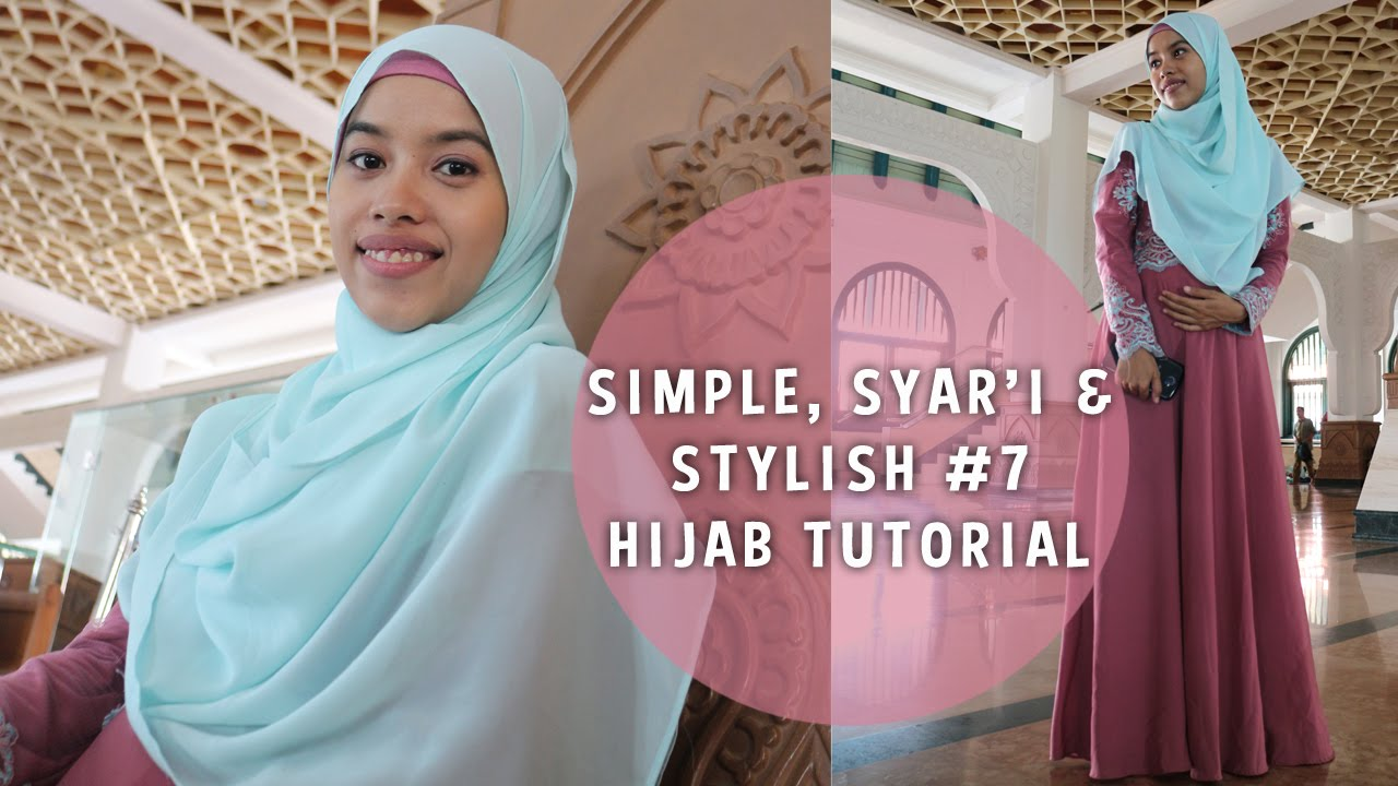 Simple Syari And Stylish Hijab Tutorial 7 Triadilah YouTube