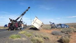 I 40 roll over Winslow az with continental heavy haul and tri-r-towing