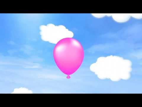 Запускаем в небо воздушные шары вместе с зайчонком (развивающий мультфильм, учим цвета и фрукты)