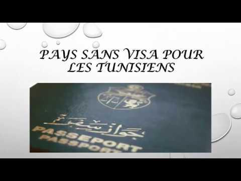 pays sans visa pour les tunisiens