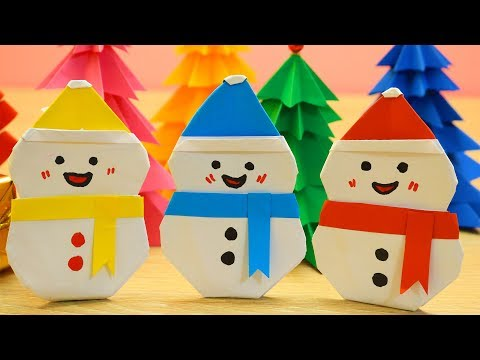 DIY Snowman From Paper | Christmas Craft Ideas