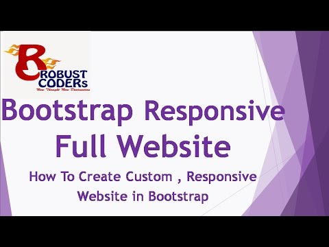 How To Create Responsive website in bootstrap (Hindi)| Best Template Design in Bootstrap